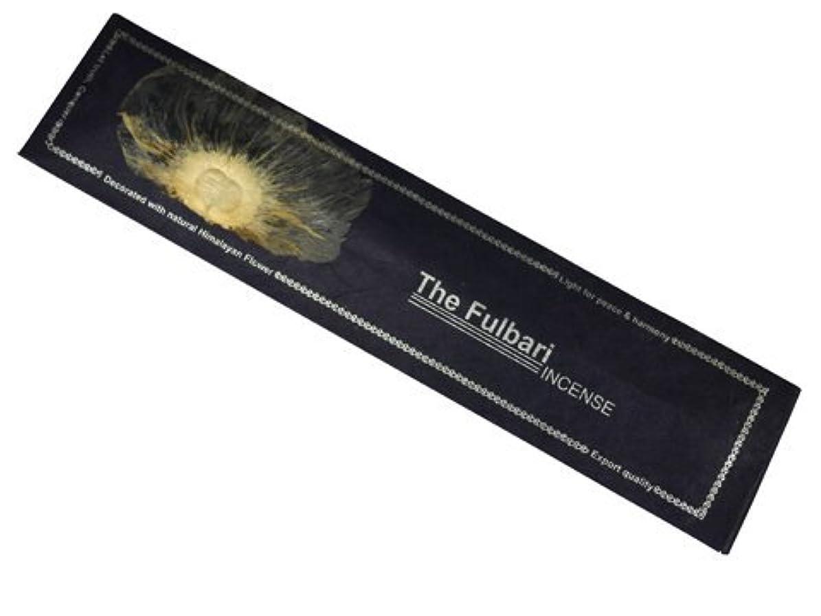 玉ねぎ生き残り責めNEPAL INCENSE ネパールのロクタ紙にヒマラヤの押し花のお香【THE FULBARIザフルバリ】 スティック