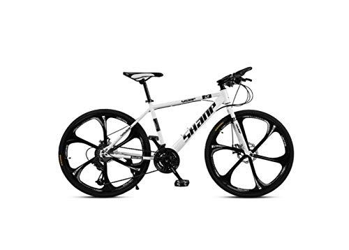 Bicicleta de Montaña Bicicleta de Montaña para Adultos Freno de Disco Doble de 26 Pulgadas, una Rueda, 30 Velocidades, Velocidad Todoterreno, Bicicleta, Hombres Y Mujeres,D,30 velocidad