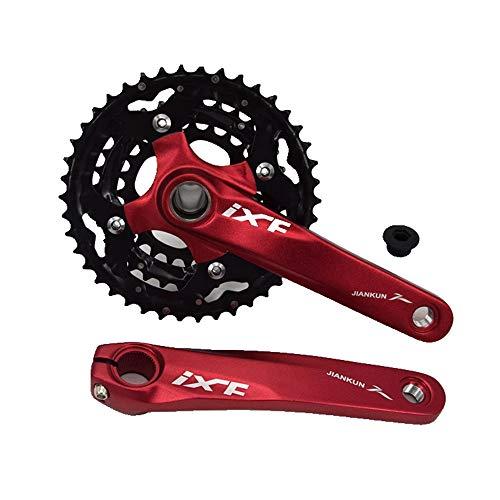 LLDKA Manivela del cigüeñal MTB Engranaje de la Bicicleta de la Bicicleta Antes del Tiempo al Punto de Partida único Velocidad 9S 44T manivela,Rojo