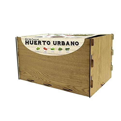 Mini Huerto de Interior para Plantas Semillas Hortalizas y Aromáticas, Kit de Cultivo Completo Huerto Urbano Ecológico en Casa Jardín Terraza Regalo Original