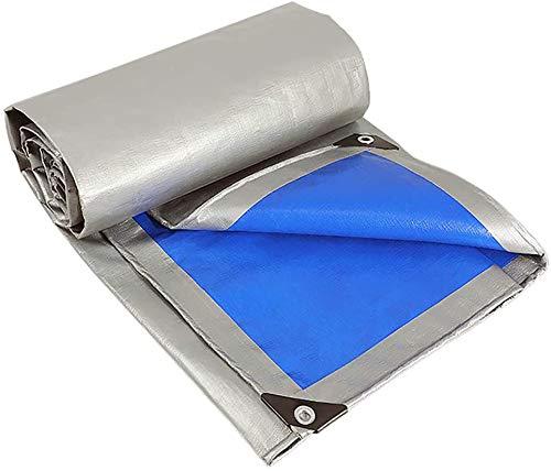 GWFVA wasserdichte Plane, verschlüsselte gewebte PE-Plane Regenfester Sonnenschutz Verschleißfeste Anti-Aging-Lösung Leicht zu Falten 160 g / msup2, 4X6M