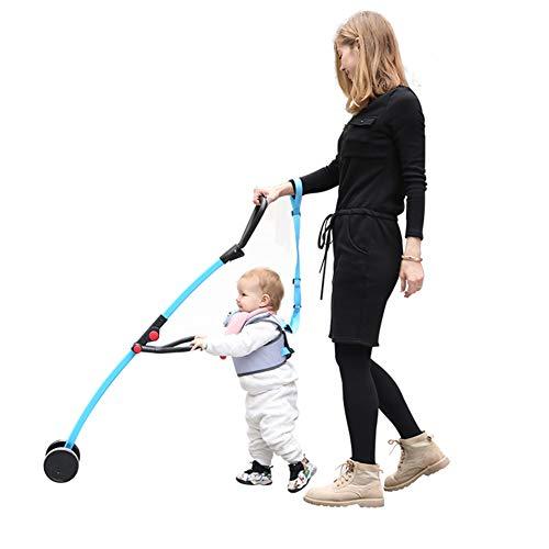 Asistente para caminar para niños pequeños y andadores, asa de algodón perla y correa para el hombro, cierre de seguridad ajustable con velcro, adecuado para familias, viajes al aire libre, picnic