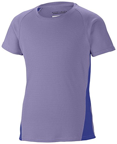 Columbia Silver Ridge III - Camiseta de Running para niño, Color Morado,...