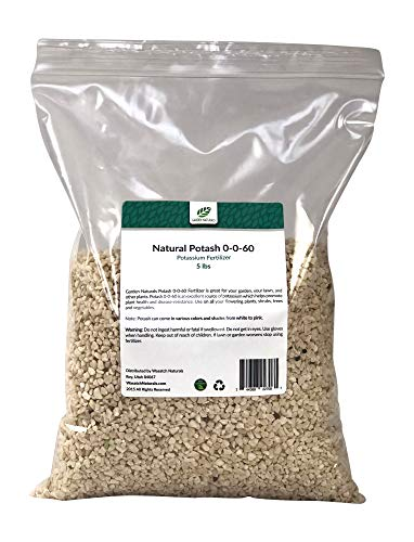Natural Potash 0-0-60 Fertilizer 15 Pounds (Garden Naturals Brand)