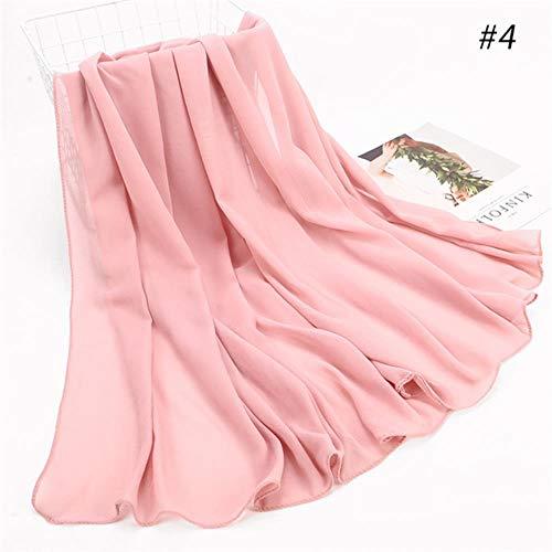 1 st Hot Sale Bubble Chiffon sjaal sjaals Grote Maat 180 * 85cm Twee Gezicht Effen Solider Kleuren Hijab moslim sjaals/sjaal 22 kleuren