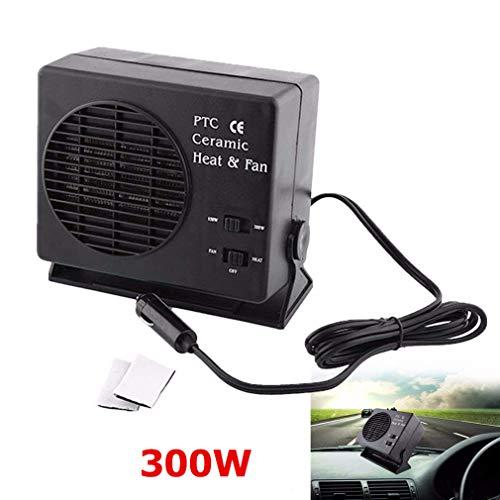 Delaman ventilatorkachel voor in de auto, energiebesparende keramiek, autoverwarming, ventilator, interieurverwarming, ontdooiingsdemister, 12 V, 150 W, 300 watt