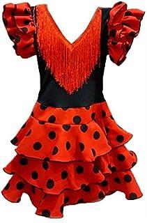 6402335a97 DISBACANAL Vestido de andaluza para niña - Único, 3-5 años