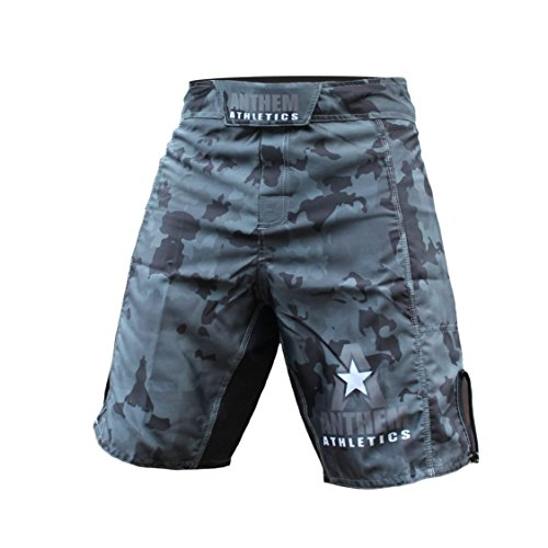 Anthem Athletics Resilience MMA Shorts - Fight Shorts, BJJ, WOD, Cross-Training, OCR - Night Camo - 33'