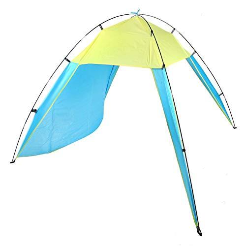 Cómoda Tienda con sombrilla Tienda para Exteriores Carpa compacta de Fibra de Vidrio para Acampar al Aire Libre(Blue, Double)