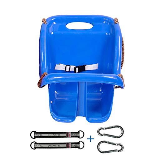 Siège d'enfant pour balançoire à Dossier Haut, Chaise en Plastique sécuritaire et Durable pour bébé, balançoire pour Aire de Jeux extérieure, (Rouge/Bleu) (Color : Blue-C)