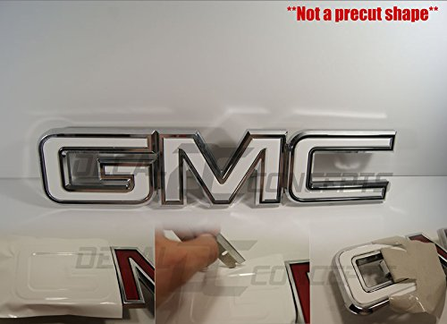 Decal Concepts GMC Sierra/Yukon Gloss White Front Grill Emblem Overlay Wrap Kit (07-17)