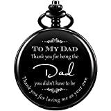Dad Gift, Reloj De Bolsillo Grabado ManChDa para Hombre con