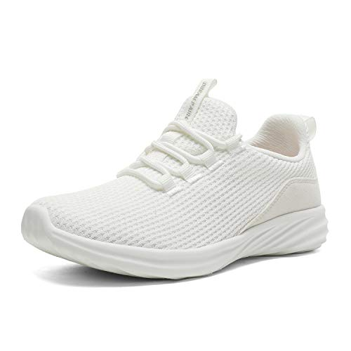 DREAM PAIRS Women's White Lightweight Running Tennis Shoes Athletic Work Sneakers Size 8.5 M US DHF19002L