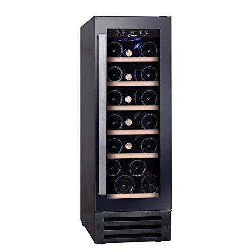Candy CCVB 30 Integrado Nevera de vino Negro 19botella(s) B - Enfriador de vino (Integrado, Negro, Negro, 6 estanterías, 1 puerta(s), Acero inoxidable)