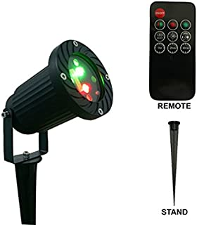 Remote Controllable 12 Patterns in 1 Firefly Green and Red Outdoor Garden Light by Ledmall