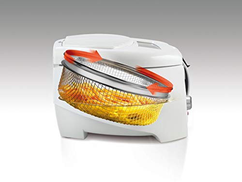 De'Longhi Roto Fry Deep Fryer with Easy Clean System F28311.W1, 1.2 L, 1800 W - White