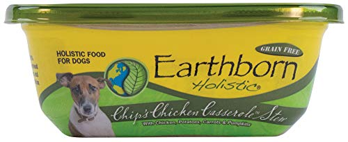 Earthborn Holistic Chip's Chicken Casserole Stew Grain-Free Moist Dog Food
