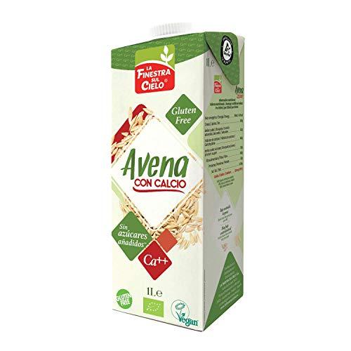 LA FINESTRA SUL CIELO Bebida Vegetal de Avena con Calcio - Paquete de 6 x 1000 ml - Total: 6000 ml