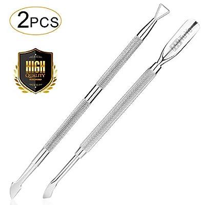 NanTuYo 2PCS Cuticle Pusher