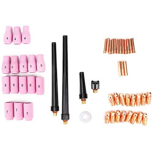 53 stuks WIG lasbrander accessoires vervanging aluminium moxide beker WIG lasbrander accessoireskit geschikt voor WP-9/20/25 componenten 53 Pcs