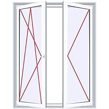 Glas:2-Fach BxH:1000x900 Drutex Kunststofffenster wei/ß Dreh Kipp Anschlag:DIN Links