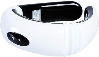MSF Masajeadores eléctricos Masajeador de cuello Tratamiento de cuello digital portátil Masajeador eléctrico para dolor de cuello, dolor de hombro (blanco)