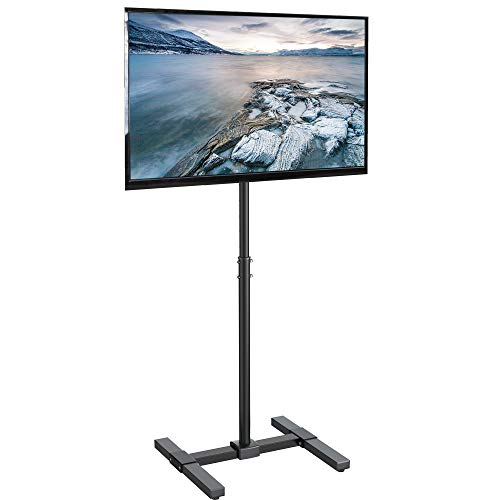 VIVO TV Floor Stand for 13 to 42 inch Flat Panel LED LCD Plasma Screens, Portable Display Height Adjustable Mount STAND-TV07