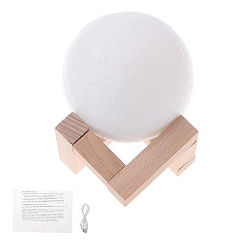 XINGYUE Lámpara de luna, 3D LED Luna Luz de la Luna Lámpara de Escritorio USB de Carga Táctil Material de Protección