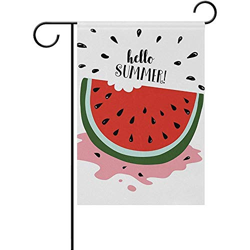 Not Applicable Summer Watermelon Slice - Bandera de jardín para Exteriores, 12.5 'x 18', Bandera Decorativa de Doble Cara para Exteriores e Interiores para Vacaciones de Invierno