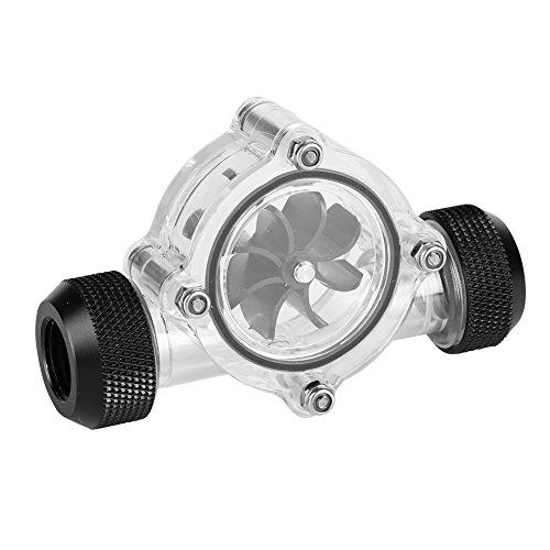 Medidor de flujo de rosca G1 / 4, medidor de flujo de enfriamiento de agua PC acrílico Indicador 8 impulsores, medidor de flujo de rosca hembra a hembra de G1 / 4 para PC