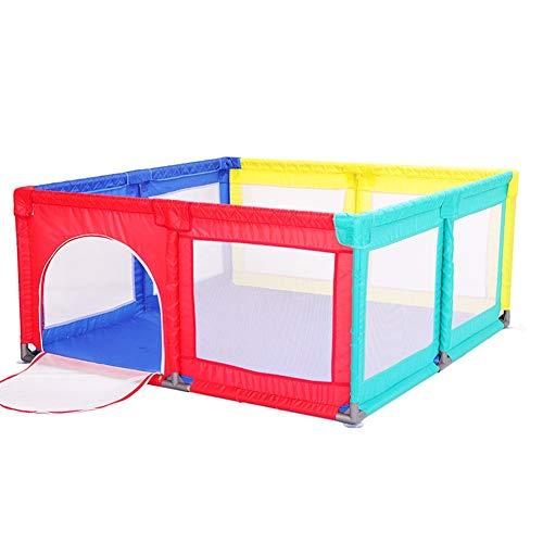Parc- Clôture De Jeu pour Grands Enfants avec Porte, Aire De Jeu Extérieure pour Bébé, pour Bébé, 150x190x70cm (Couleur : Multicolore)