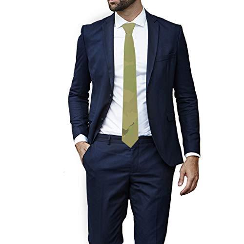 Corbata verde militar para hombre con patrón a cuadros