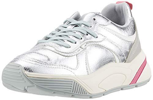 ESPRIT Damen Misha LU Sneaker, Silber (Silver 090), 38 EU