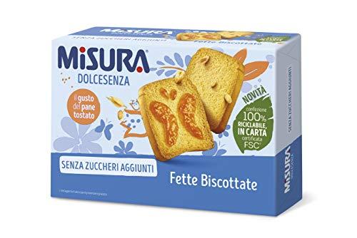 Misura Fette Biscottate Dolcesenza | Senza Zuccheri Aggiunti | Confezione da 320 grammi