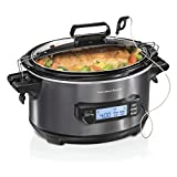 Hamilton Beach Portable 6-Quart Digital Programmable Slow Cooker With...