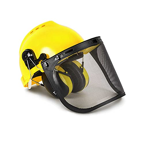TR Industrial Forestry Safety Helmet and Hearing Protection System, Yellow