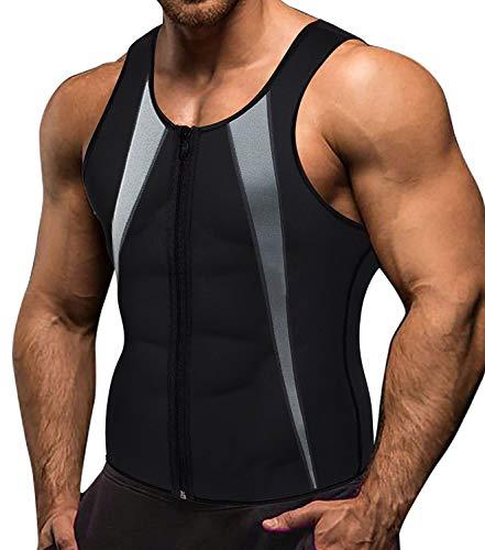 Memoryee mannen sauna zweet rits vest voor gewichtsverlies hete neopreen korset taille trainer body top shapewear afslanken shirt training pak