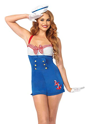 Leg Avenue 83638 - 2Tl. Hafenmeisterin Kostüm Set, Small, Damen Karneval Kostüm Fasching
