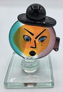 Escultura icono cabeza Picasso cristal de Murano Made in Italy