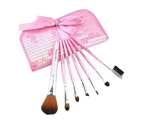 Doux synthétique Maquillage Foundation Brush Set 7 PCS avec sac