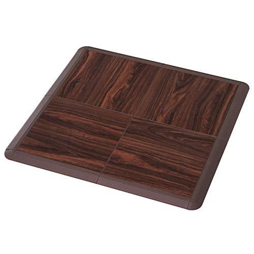 Soozier Portable Dance Floor Tiles, Tap Ballet Trade Show Flooring, PVC, 4 Piece Mats, 3.5' x 3.5'