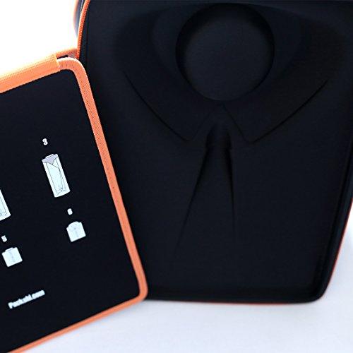 ワイシャツケース|無料折りたたみボード付き出張トラベルワイシャツケース|男性用ギフト|男性トラベルアクセサリー&出張トラベル用折ジワがつかないワイシャツバッグ(オレンジ)