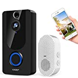 Image: Wireless Video Doorbell Camera | 1080P Smart Home Security System with Real-Time Push Alerts | Night Vision | Weather Resistant | Free Cloud Storage | Visual Recording | Security Door Bell (Batteries Included) by KAMEP