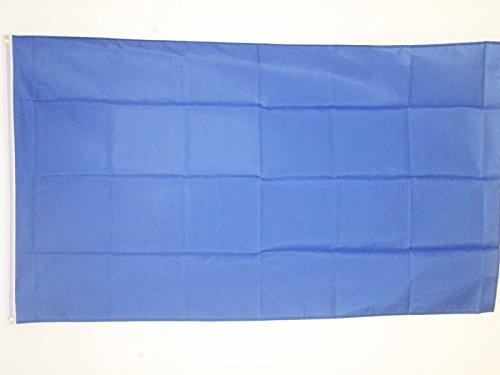 AZ FLAG Flagge EINFARBIG BLAU 150x90cm - EINFARBIG Fahne 90 x 150 cm - flaggen Top Qualität