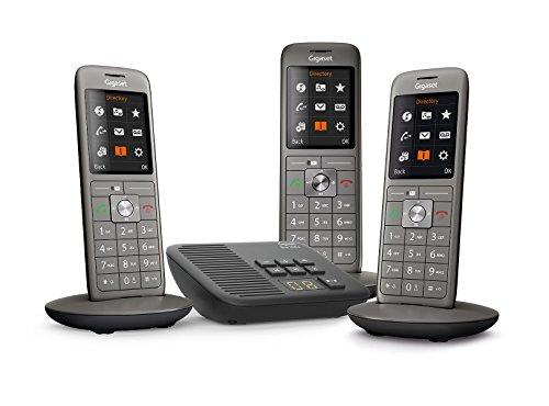 Gigaset CL660A Trio - Téléphone Fixe sans Fil - Répondeur - 3 Combinés - Gris Anthracite