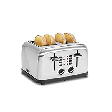 Elite Platinum ECT-2334X Maxi-Matic 4-Slice Stainless Steel Toaster, Silver