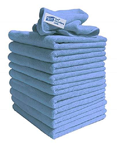 Exel Reinigungstücher Super Magic, flusenfreie Mikrofaser, zum Polieren, Waschen, Wachsen und Staubwischen, inkl. TCH-Antibakterienstift Reinigungszubehör, Blau,10Stück.