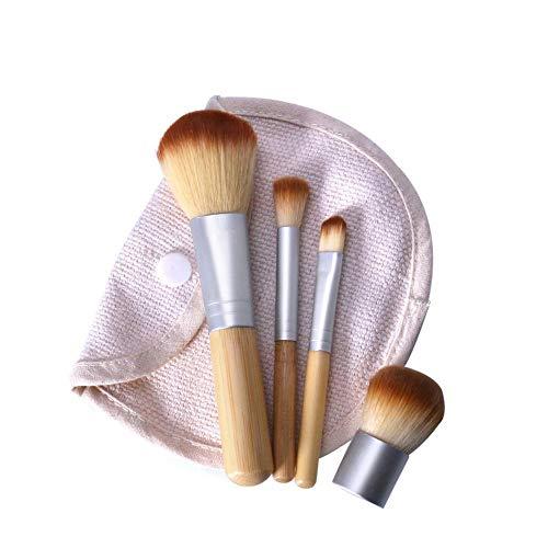 4 PCS/LOT Bambou Brosse Fondation Brosse Maquillage Pinceaux Pinceau Cosmétique Visage Poudre Pour Maquillage Beauté Outil