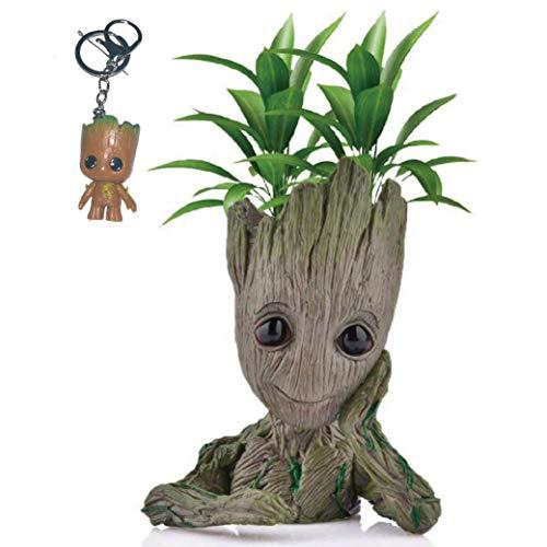 Kyhon Baby Groot Maceta - Maravillosa Figura de acción de Guardians of The Galaxy para Plantas y bolígrafos y Plumas Decoración de Habitaciones para niños de Familia, macetas, Regalos para niños