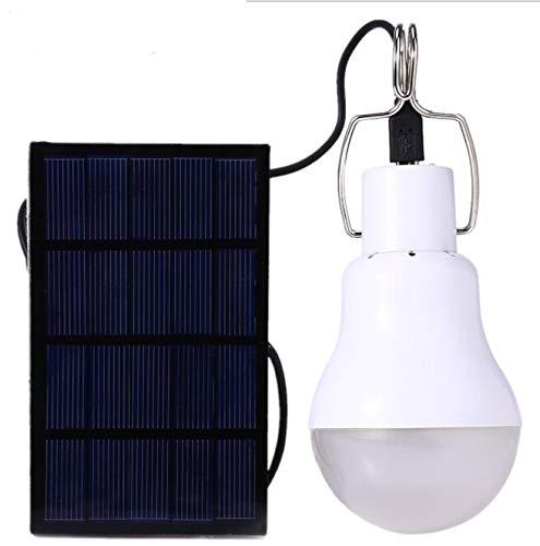 TOOGOO Panel Solar Accionado LED Bombilla de Luz Portátil Lámpara de Energía para Tienda para Cámping Al Aire Libre 15W